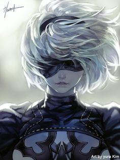 nier automata by GoddessMechanic.deviantart.com on @DeviantArt - More at https://pinterest.com/supergirlsart/ #fanart #2b
