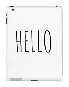 Our Hello - Tumblr iPad Case is available online now for just £9.99.    Check out our super cute Hello - Tumblr iPad case, available for iPad, iPad Mini & iPad Air    Material: Plastic, Production Method: Printed, Weight: 28g, Thickness: 12mm, Colour Sides: White, Compatible With: iPad 2 | iPad 3 | iPad 4 | iPad Air | iPad Mini | iPad Mini 2, Features: Slim fitting one-piece clip-on case that allows full access to all device ports. This iPad case is extremely durable, shatterproof casing wit