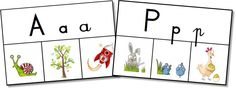 Par quelle lettre commence ce mot? Les spelling cards pour les GS-CP