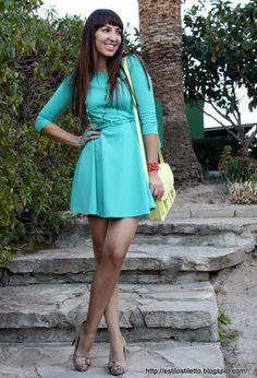 MENTA  #fashion #style, ANCORA BOUTIQUE en Vestidos, Blanco en Otras joyas / Bisutería, HYM en Bolsos, Zara en Tacones / Plataformas