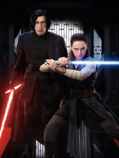 Star Wars: The Last Jedi  ↳ Rey and Kylo Ren textless entertainment weekly cover