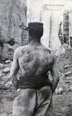 French Foreign Legion, soldier displays tattoos on his back, North Africa. Depicted on a postcard Get premium, high resolution news photos at Getty Images Belle France, French Foreign Legion, Warrior Spirit, French Army, Battle Of Britain, World War One, World History, Military History, Stock Pictures