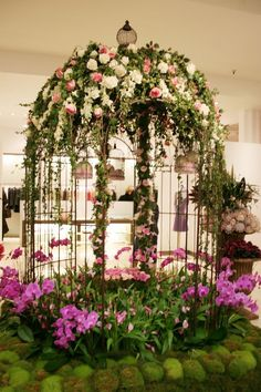 Smith & Caugheys 125th Anniversary in store floral display by Cartier For Flowers
