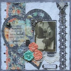 Cherished Memories with Donna Hi Donna here with a layout I did of my grandparents wedding photo and Quick Quotes 49 Shades of Grey was perfect, so vintage looking!  This was a great time to do this layout since they got married on New Years Eve, many many years ago!
