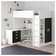 STUVA / FRITIDS Loft bed combo w 3 doors, white, light blue, Single. An extra room isn't always an option when space is limited at home.