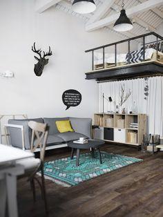 Scandinavian style loft in Prague, Czech Republic / visualizer: Denis Krasikov