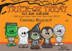 """HALLOWEEN KIDS PARTY Invitation size 4""""x6"""" or 5""""x7"""" --complete digital file--"""