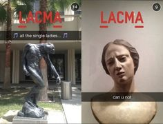 LACMA Is Killing It On Snapchat