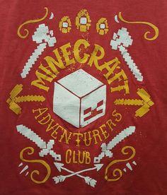 MINECRAFT T Shirt Size 6/7 Small BOYS Jinx Official Red Adventurers Club Kids  #MojangMinecraft #Everyday