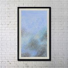 """Art contemporain Nouvelle peinture par pulvérisation d'encre numérique+Peints à la main cadre noir Taille32""""X52"""""""