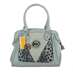 #Michael Kors Outlet Michael Kors Logo Signature Leopard Large Grey Totes $66.99 !Cofortable and cheap!