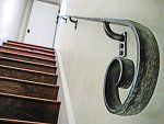 beautiful arts and crafts–style handrail.