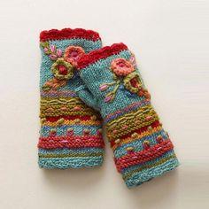 Fingerless Gloves Knitted, Crochet Gloves, Knit Mittens, Hand Knitting, Knitting Patterns, Crochet Patterns, Knitting Wool, Diy Tricot Crochet, Mittens Pattern