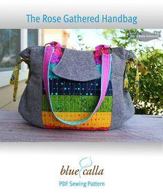 The Rose Gathered Handbag - PDF Sewing Pattern