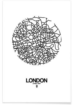 London Street Map White Prints by NaxArt Icon Design, Map Design, Graphic Design, Design Ideas, Poster Online, Map Tattoos, London Map, London Logo, Paper Wall Art