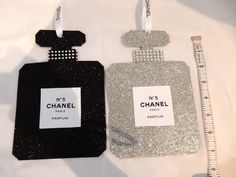 "FOR A LIMITED TIME GET 15% OFF ON ORDERS OVER $25.00 JUST USE CODE "" CHANEL"" AT CHECKOUT.  CHANEL INSPIRED PERFUME BOTTLE CHRISTMAS TREE ORNAMENT LARGE GLITTERY GLAM"