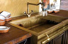 Semi-Recessed Sink von Officine Gullo | Küchenspülbecken