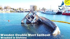 Sail And Under Adventures: Wooden Double Mast Sailboat Wrecked in Elefsina - Photos