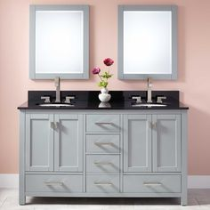 "60""+Modero+Double+Vanity+for+Undermount+Sinks+-+Chilled+Gray"