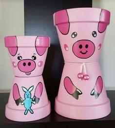 Clay Pot Projects, Clay Pot Crafts, Flower Pot Art, Flower Pots, Flowers, Painted Plant Pots, Flower Pot People, Terracotta Pots, Clay Pots