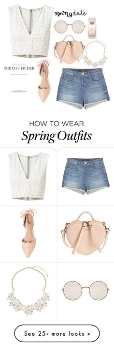 """Spring Casual Outfit"" by pink-chick on Polyvore featuring Marc Jacobs, Alice + Olivia, Dorothy Perkins, J Brand, Illesteva and Ava & Aiden"