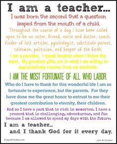 crayonfreckles: I Am a Teacher {free printable}
