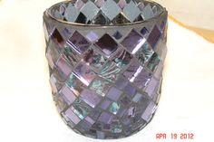 Stained Glass Mosaic Candle Holder in Van Gohn & Shades of Purple. $35.00, via Etsy.