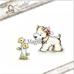 Magnolia Stamps Country Girl 2017 - Little Westie With Flower
