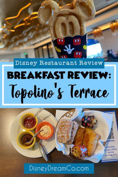 Breakfast at Topolino's Terrace. This Disney World restaurant has character dining, so Mickey and friends are out to join you! Disney World restaurant review. This is one of the best Disney World restaurants. Topolino's Terrace is at the Riviera Resort, right off the Disney Skyliner. This is a great restaurant for kids, family, or just the adults! Disney World tips. Disney World Secrets, Disney World Food, Disney World Planning, Disney World Tips And Tricks, Disney Tips, Best Disney World Restaurants, Walt Disney World Vacations, Disney Travel, Disney Character Dining
