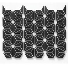Hoshi is a glazed porcelain wall mosaic with endless possibilities. The mesh mounted pattern enables the customization during installation, creating fun combinations with patterns. Stone Mosaic Tile, Mosaic Tiles, Tiling, Floor Design, Tile Design, Flower Of Life Pattern, Italian Tiles, Decorative Tile, Hoshi