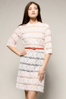 $128 Vintage 1960s beaded pink lace dress http://thriftedandmodern.com/vintage-1960s-beaded-lace-flapper-dress