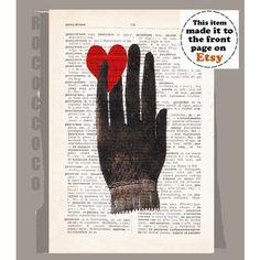 De la mano con corazón obras de arte originales por RococcoCo