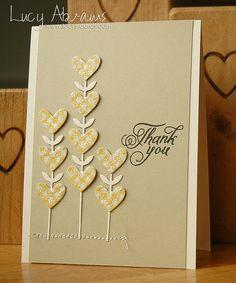handmade card ... SSS Heart Flowers die ... kraft ... clean and simple ...