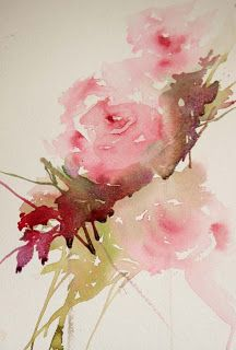 Watercolours With Life: Painting Roses in a Loose Style : Foliage Jean Haines