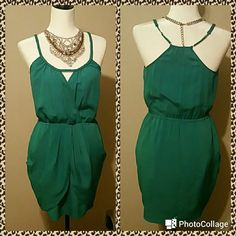 Listing Bebe Mini Dress Aqua Green Bebe Mini Dress Aqua Green   Super Sexy and cute   You could wear it as a blouse with some leggings & boots or as a mini Dress with some heels   Like New only worn once bebe Dresses Mini