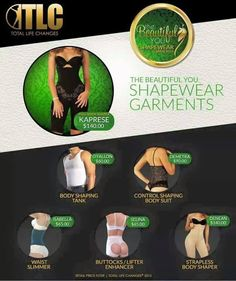 Shape wear Garments from #TLC! Order yours today!  http://www.gotlcdiet.com/4101051