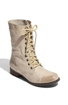 cream combat boots for spring-perfect!