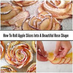 This tutorial shows how to roll apple slices so they look like rose flowers. It's so easy! Roll your own rose apple slices to impress your dinner guests.