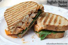 Meal Planning Monday:  Buffalo Chicken Paninis