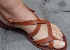 Cuero sandalias Huaraches sandalias Unisex marrón por ForGoodPeople
