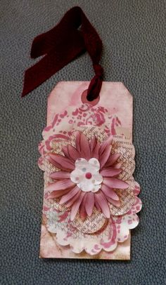 OOAK Handmade Gift Tag by PaperPastiche on Etsy, $3.50