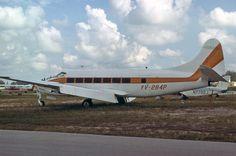 de Havilland DH.114 Heron 2D (YV-284P, c/n 14131) of Shell de Venezuela at Opa Locka on July 15th, 1979. P. Thallon collection.