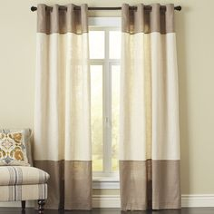 blythe colorblock curtain taupe pier one