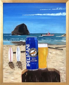 Pelican Brewing in Pacific City, Oregon Pacific City Oregon, Home Bar Decor, Beer Art, University Of Oregon, Beer Lovers, Art Studies, Gas Station, The Locals, Brewing