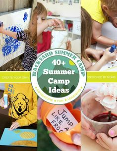 Over 40 FUN Summer Camp Activities for Kids - Such fun ideas whether you are doing a DIY Summer camp or are a counselor working a summer job!