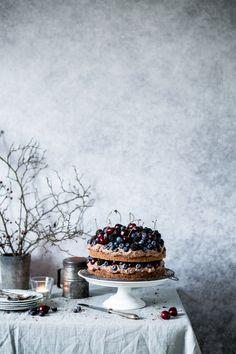 ... chocolate fruity cake ...
