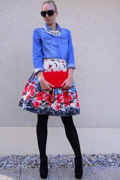 Denim edgy flowers | Women's Look | ASOS Fashion Finder