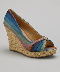 Take+a+look+at+the+Blue+&+Purple+Peep-Toe+Espadrille+on+#zulily+today!