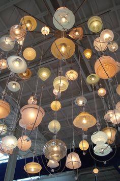 Huge beautiful lamp by Piet Hein Eek in his restaurant in Eindhoven (NL)