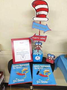 Dr Seuss Thing 1 Thing 2 Twin Boys First Birthday Party Birthday